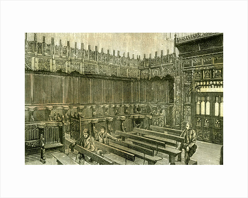 Aberdeen UK King's College Chapel 1885 by Anonymous