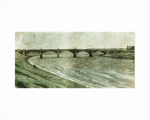 Aberdeen UK Victoria Bridge Across the Dee 1885 by Anonymous