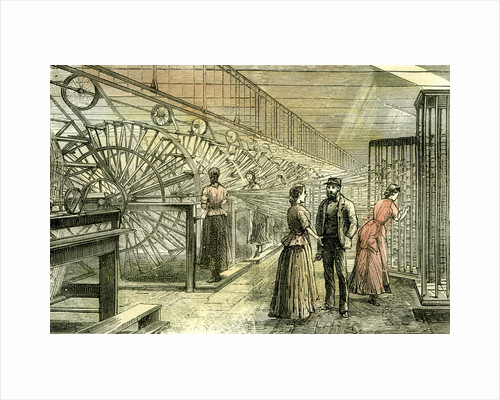 Aberdeen Granholm Tweed Mills 1885 UK Warping Machines by Anonymous