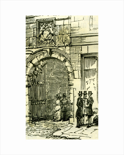 Aberdeen Old Gateway to Marischal College 1885 UK by Anonymous
