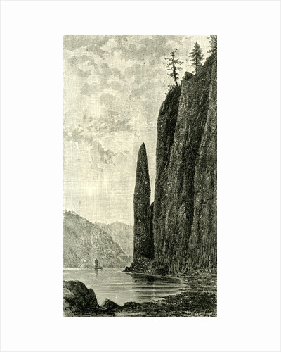 Cape Horn on the Columbia River 1891 USA by Anonymous