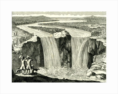 Hennepin's Sketch of Niagara in 1678 USA by Anonymous