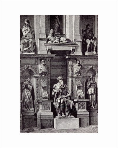 Rome Italy 1875 Mausoleum of Julius II. The Moses of Michelangelo by Anonymous