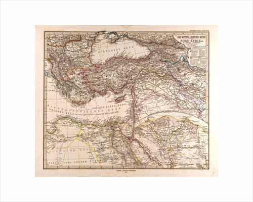 Mediterranean Sea Map 1872 by Anonymous