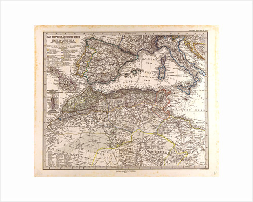Mediterranean Sea Map by Anonymous