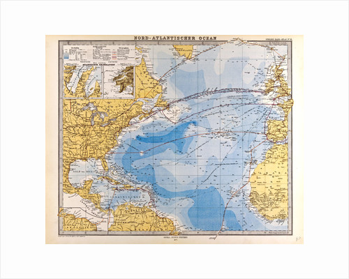 North Atlantic Ocean Map by Anonymous