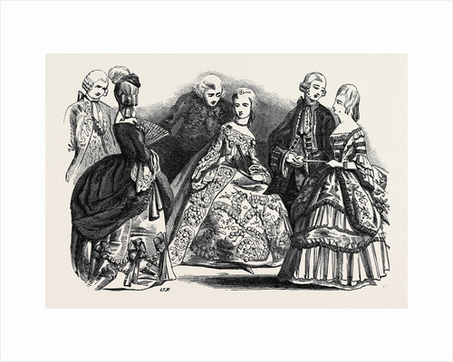 Her Majesty's Costume Ball, Duchess of St. Albans, Viscount Villiers, Duchess of Sutherland, Viscount Castlereagh, Lady Peel, Duke of St. Albans by Anonymous