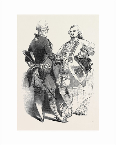 Costumes of Colonel Dawson Damer and the Prince of Leiningen by Anonymous