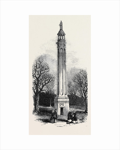 Lord Cobham's Pillar, at Stowe by Anonymous