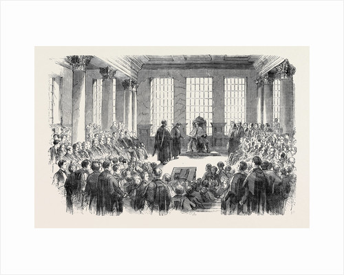 University of London, the First Conference of Degrees, in the Hall of King's College by Anonymous