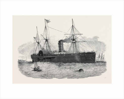 Ocean Steam Navigation: The United States Mail Steamship Atlantic Entering the Mersey by Anonymous