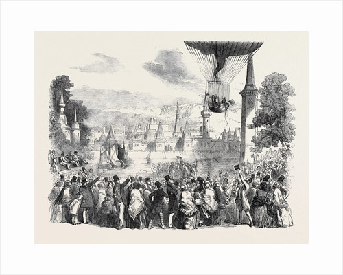 Ascent of the Nassau Balloon, from Vauxhall Gardens, on Saturday, June 29, 1850 by Anonymous
