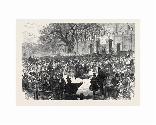 The Late Emperor Napoleon III: The Lying in State: Crowd at the Gate Chiselhurst 1873 by Anonymous