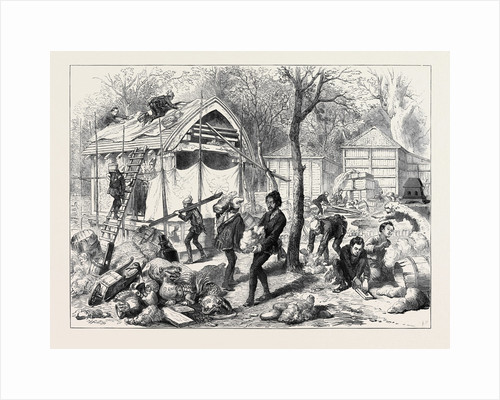 The Vienna Universal Exhibition: Japanese Workmen Building a Japanese Village 1873 by Anonymous