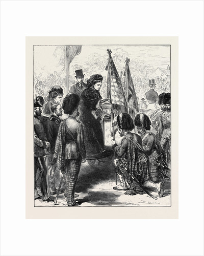 The Queen Presenting New Colours to the 79th (Cameron) Highlanders at Parkhurst Isle of Wight 1873 by Anonymous