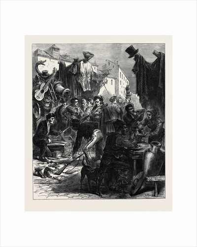 Madrid: Buying Arms in the Rastro Spain 1873 by Anonymous