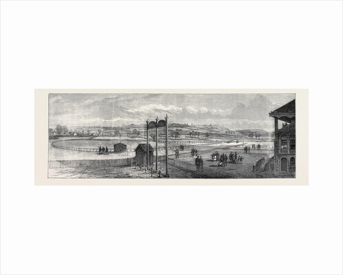 The New Racecourse Bristol: View from Near the Grand Stand 1873 by Anonymous
