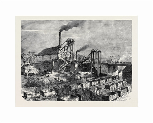 The Staffordshire Colliery Explosion: The Talke Colliery Near Hanley Where the Explosion Happened 1873 by Anonymous