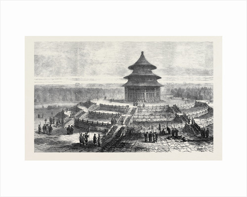 North Altar of the Temple of Heaven Pekin China 1873 by Anonymous
