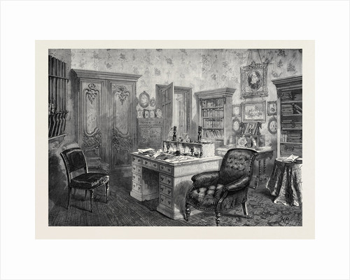 The Library Camden Place Chiselhurst Residence of the Late Emperor Napoleon III 1873 by Anonymous