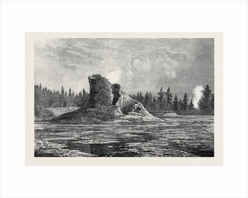 The Giant Geyser Montana North America 1873 by Anonymous