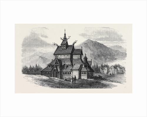 Norwegian Church at Borgund by Anonymous