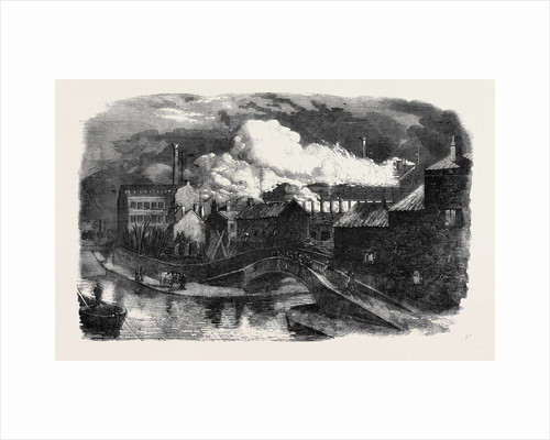 Destruction by Fire of Messrs. Hine and Mundella's Hosiery Factory at Nottingham by Anonymous