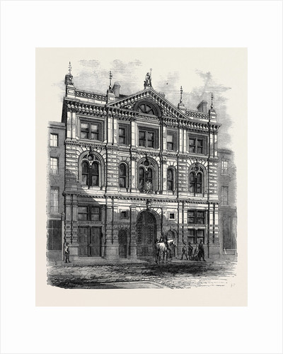 Newly Erected Offices of the Peninsular and Oriental Steam Navigation Company Leadenhall Street Fronting the Eastern End of the India House by Anonymous