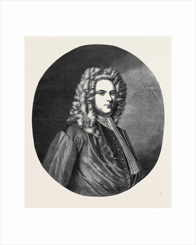 Portrait of Handel from the Original Painted for Him by Denner and Presented to the Sacred Harmonic Society by Anonymous