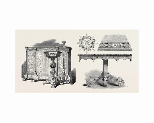 Furniture, East India Company, and, Inlaid Table and Ornaments of Top, Caldecott, Great Russell Street by Anonymous