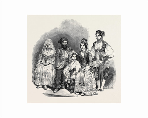 The Algerine Family, at Vauxhall Gardens, (from a Daguerreotype by Beard.) by Anonymous