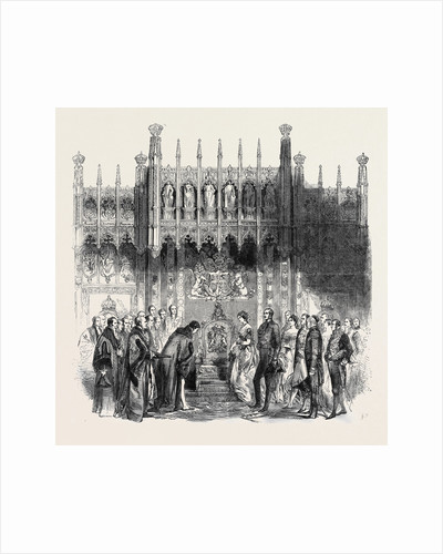 The Queen's Visit to the City of London, the Royal Throne in the Guildhall, Royal Visit to the City by Anonymous