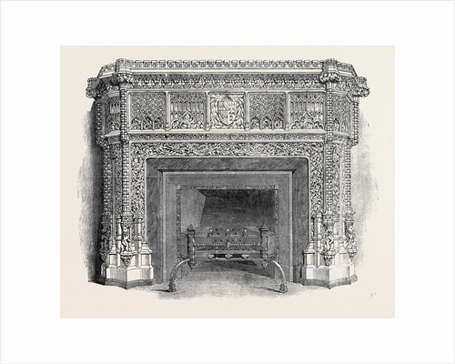 Gothic Mantel Piece, the Great Exhibition by Anonymous