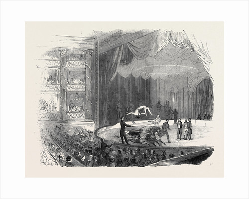 American and French Equestrians at Drury-Lane Theatre, Mr. M'Collum's Feat on Two Horses by Anonymous
