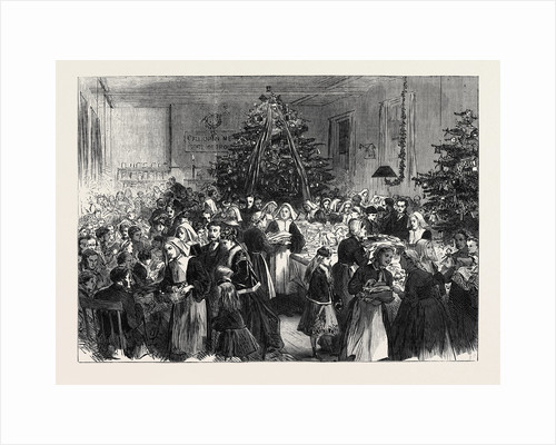 Annual Entertainment and Distribution of Prizes from the Christmas Tree at University College Hospital UK 1869 by Anonymous