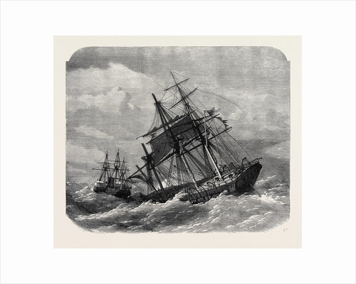 The Late Collision Off the Lizard: H.M.S. Terrible Towing the Calcutta Into Plymouth 1869 by Anonymous