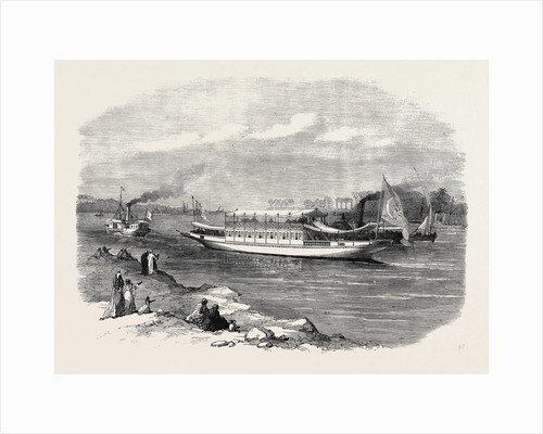 The Prince and Princess of Wales in Egypt: The Dahabieh or Nile Boat for the Prince and Princess 1869 by Anonymous