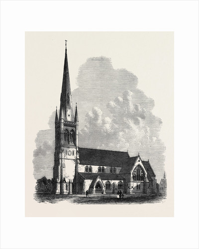 All Saint's Church Sheffield 1869 by Anonymous