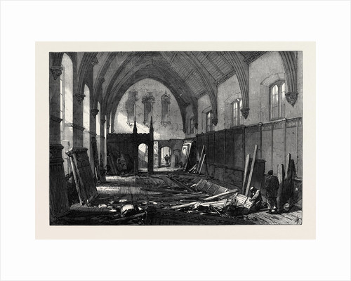 Demolition of the Old Dining Hall of the Inner Temple 1869 by Anonymous