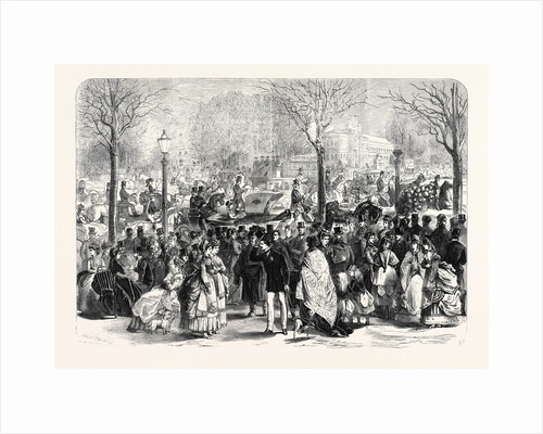 The Paris Easter Promenade at Longchamps France 1869 by Anonymous