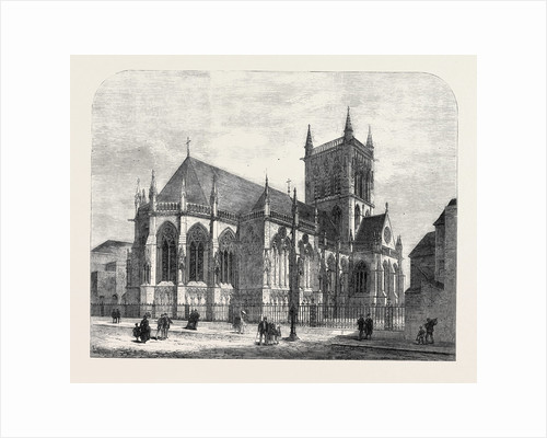 The New Chapel of St. John's College Cambridge UK 1869 by Anonymous