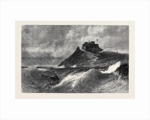 A Fresh Gale Mount Orgueil Jersey, in the Exhibition of the Society of British Artists Suffolk Street London 1869 UK by Anonymous