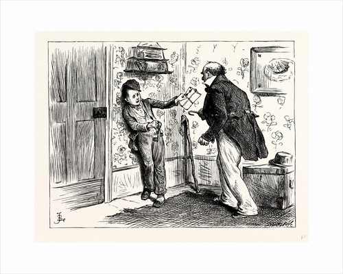 Charles Dickens Dombey and Son. the Captain's Voice Was So Tremendous and He Came Out of His Corner with Such Way on Him that Rob Retreated Before Him Into Another Corner: Holding Our the Keys and Pace Et to Prevent Himself from Being Run Down. by Anonymous
