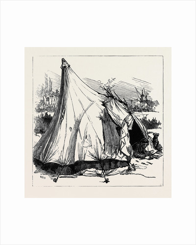 Gipsy Life Round London: Tent at Hackney Wick 1880 by Anonymous