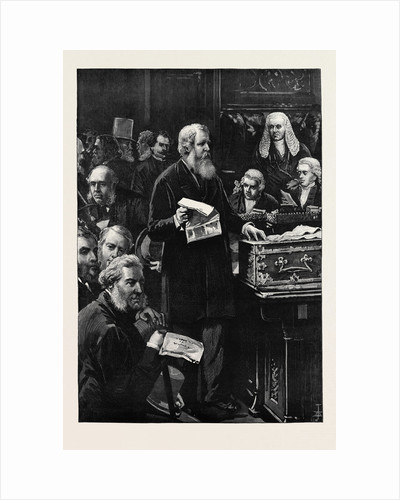 The Opening of Parliament: The Chancellor of the Exchequer Speaking in the House of Commons 1880 by Anonymous
