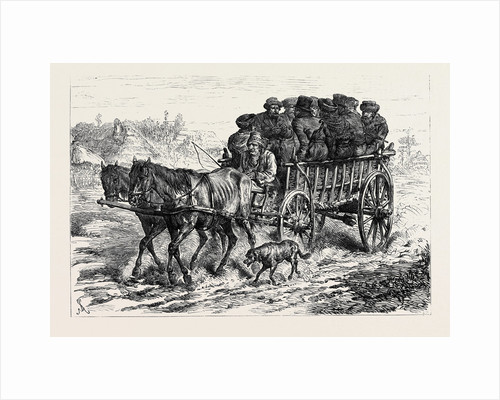 Polish Jews Driving to Market: on the Polish Russian Frontier 1880 by Anonymous