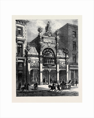 New Arcade Old Bond Street: Exterior London 1880 by Anonymous