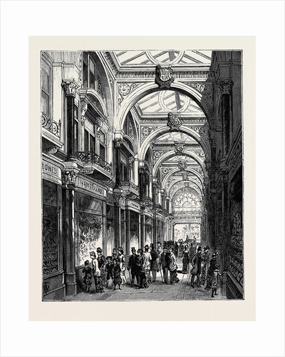 New Arcade Old Bond Street London 1880 by Anonymous