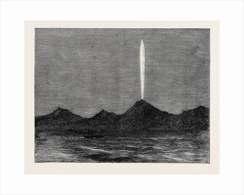 The Comet in the Southern Hemisphere As Viewed from the Wellington in Queen Charlotte's Sound 1880 by Anonymous
