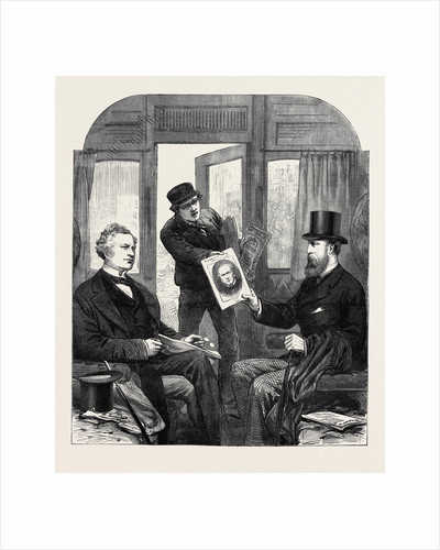 The Ministerial Crisis: A Sketch at the Great Western Railway Station Paddington Friday April 23 1880 by Anonymous
